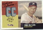 2002 Topps Heritage Clubhouse Collection #CCEM Eddie Mathews Jsy