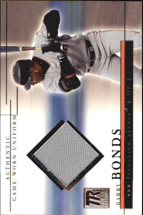 2002 Topps Reserve Uniform Relics #BB Barry Bonds E