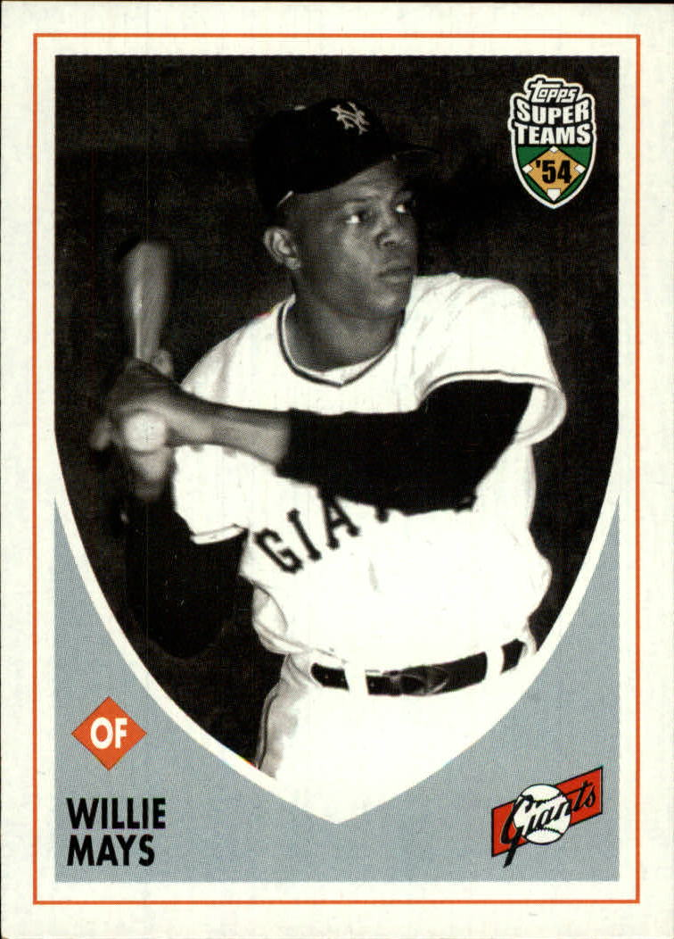 2002 Topps Super Teams #5 Willie Mays