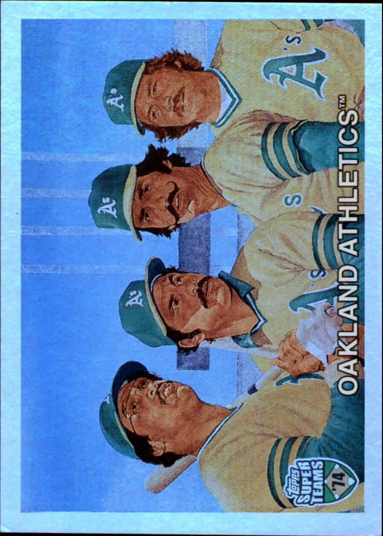 2002 Topps Super Teams Retrofractors #131 Hunter/Bando/Reggie/Fingers