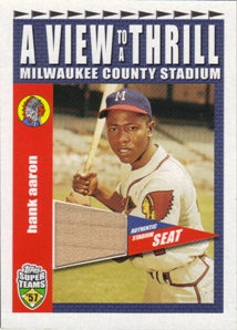 2002 Topps Super Teams A View To A Thrill Relics #VTHA Hank Aaron 2