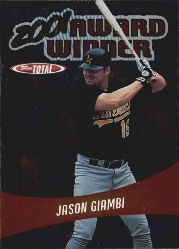 2002 Topps Total Award Winners #AW7 Jason Giambi A's