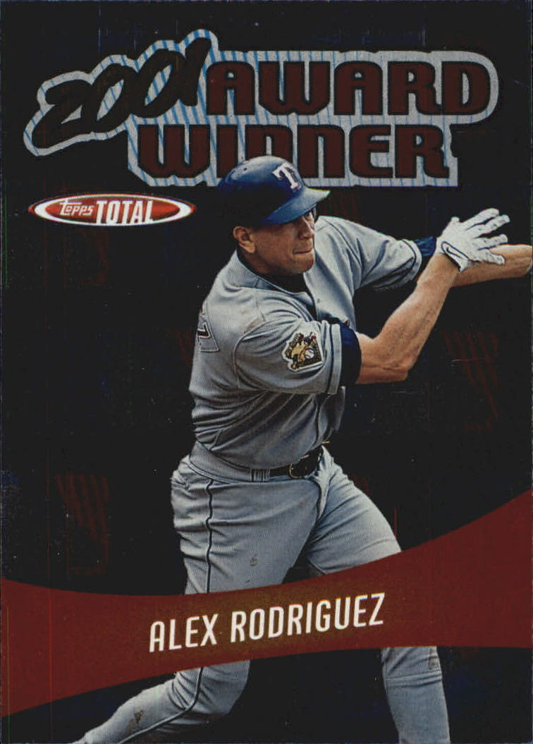 2002 Topps Total Award Winners #AW10 Alex Rodriguez