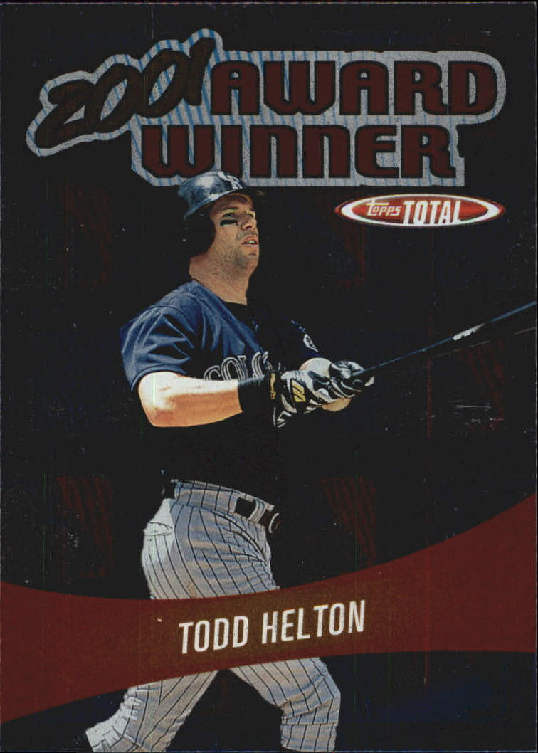 2002 Topps Total Award Winners #AW15 Todd Helton