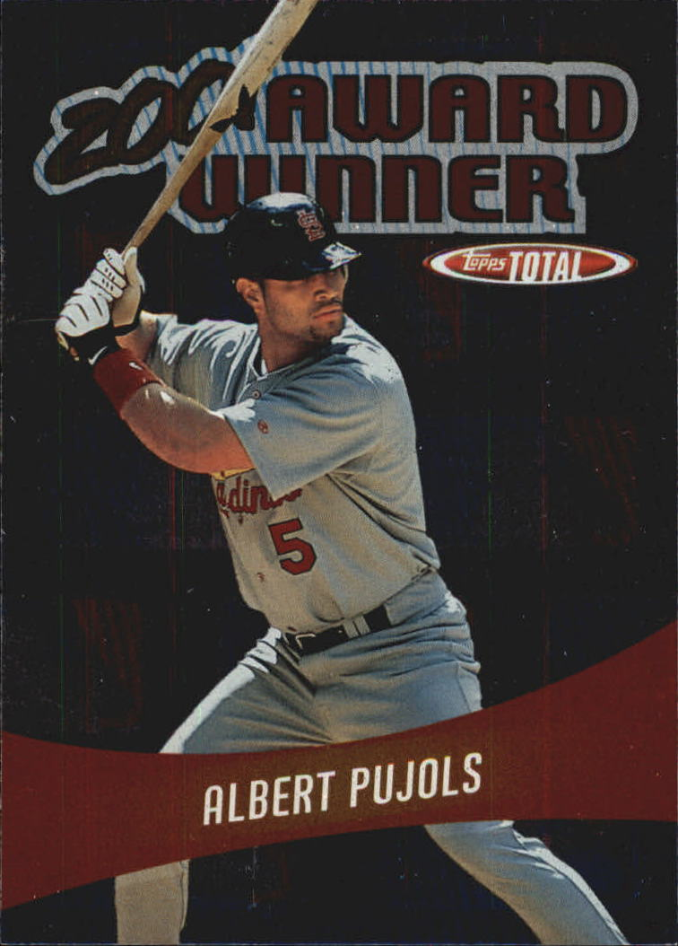 2002 Topps Total Award Winners #AW17 Albert Pujols