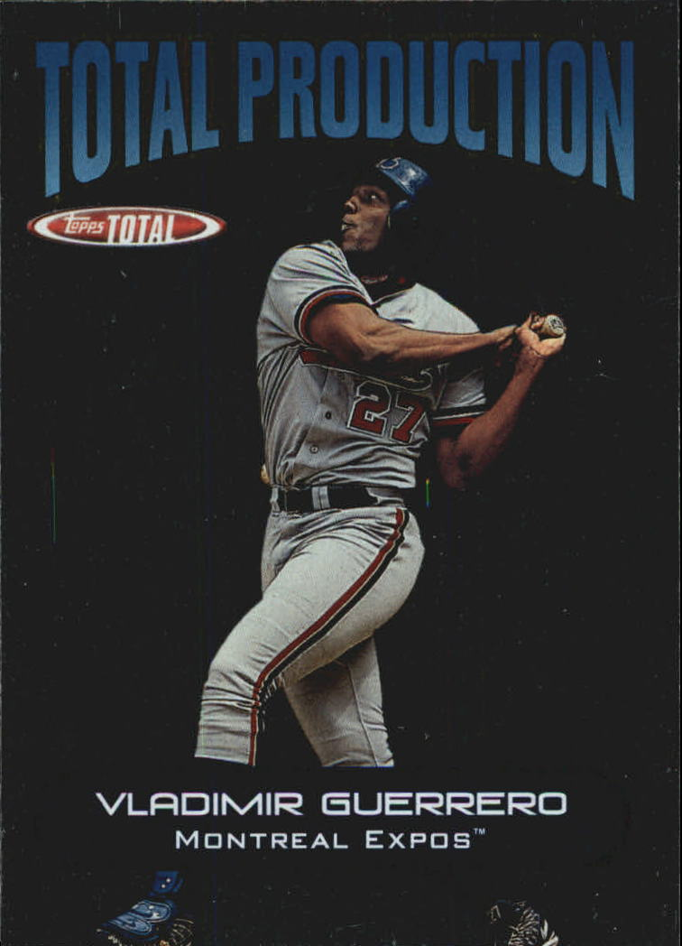 2002 Topps Total Production #TP8 Vladimir Guerrero