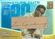 2002 Topps Tribute Signature Cuts #LG Lou Gehrig