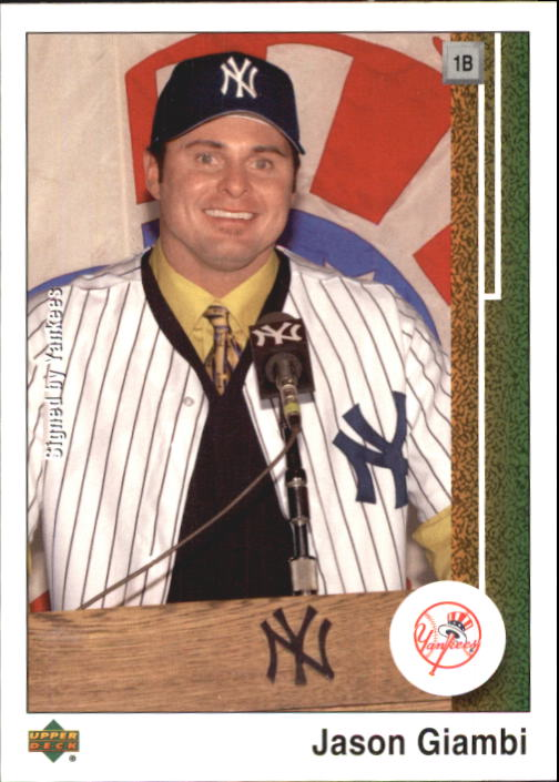 2002 UD Authentics #80 Jason Giambi Yankees