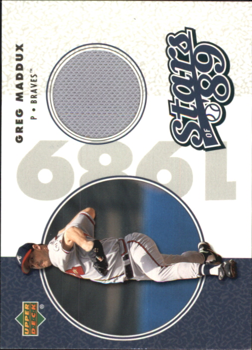 2002 UD Authentics Stars of 89 Jerseys #SLGM Greg Maddux