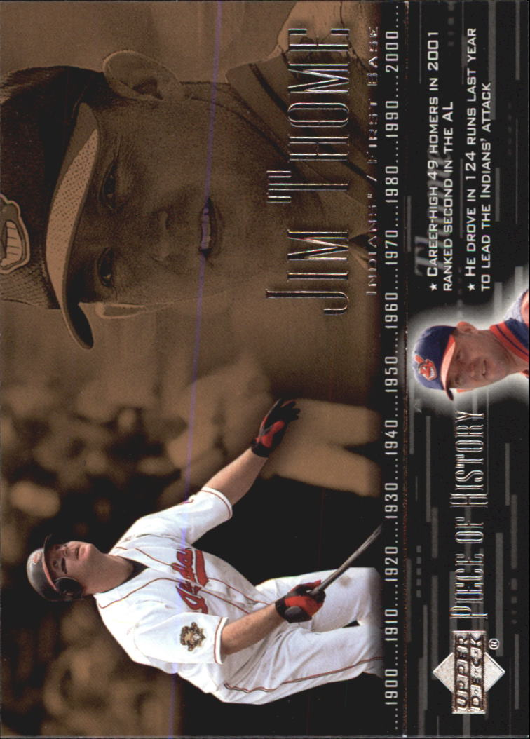 2002 UD Piece of History #12 Jim Thome
