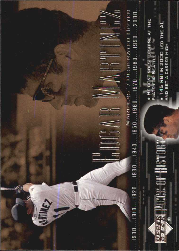 2002 UD Piece of History #14 Edgar Martinez