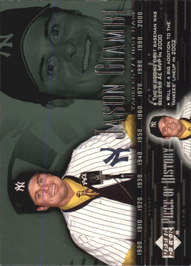 2002 UD Piece of History #36 Jason Giambi SP