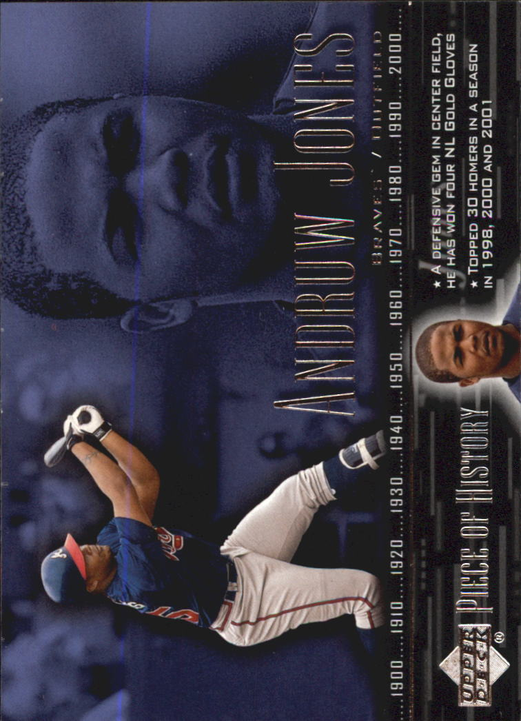 2002 UD Piece of History #46 Andruw Jones front image
