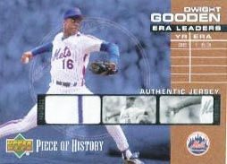 2002 UD Piece of History ERA Leaders Jersey #ELDG Dwight Gooden