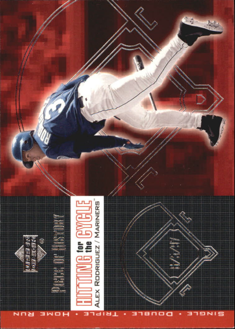 2002 UD Piece of History Hitting for the Cycle #H1 Alex Rodriguez