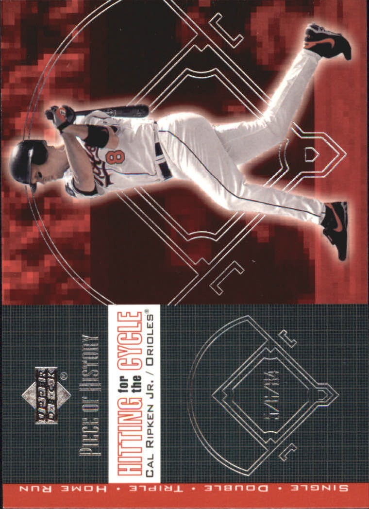 2002 UD Piece of History Hitting for the Cycle #H3 Cal Ripken