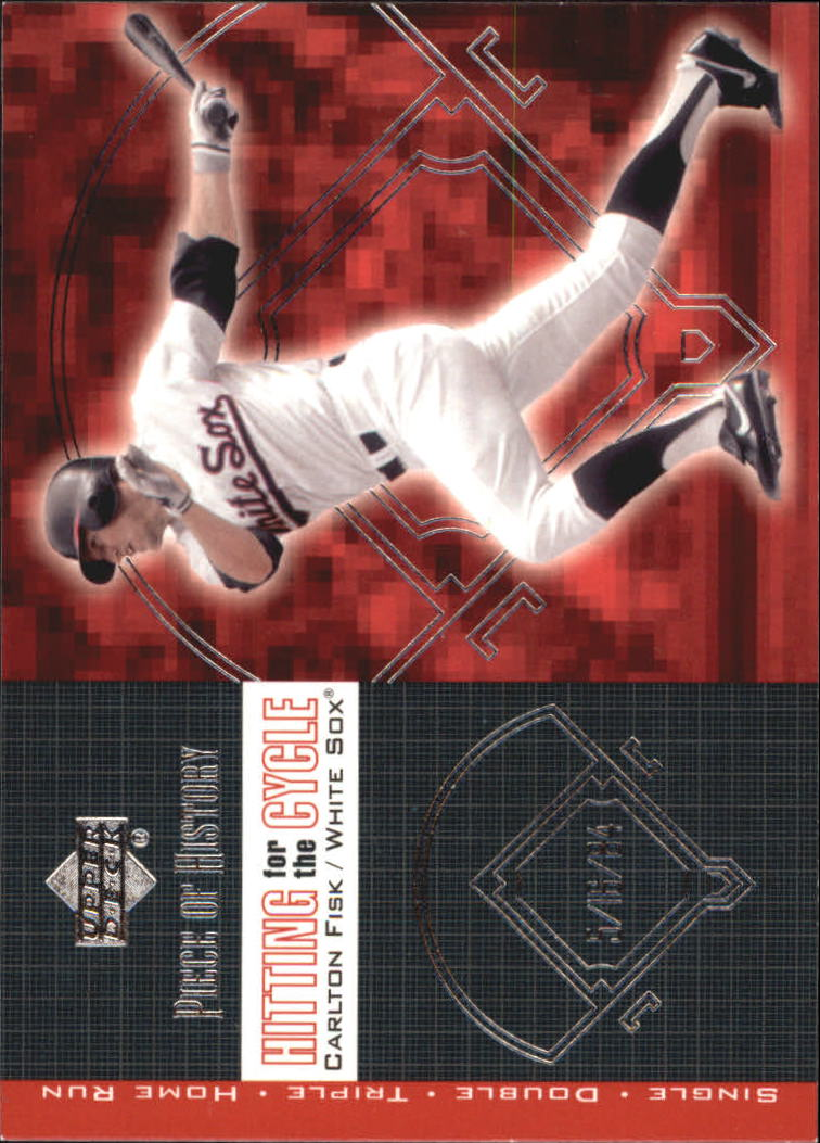 2002 UD Piece of History Hitting for the Cycle #H4 Carlton Fisk