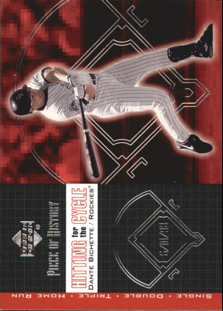 2002 UD Piece of History Hitting for the Cycle #H5 Dante Bichette