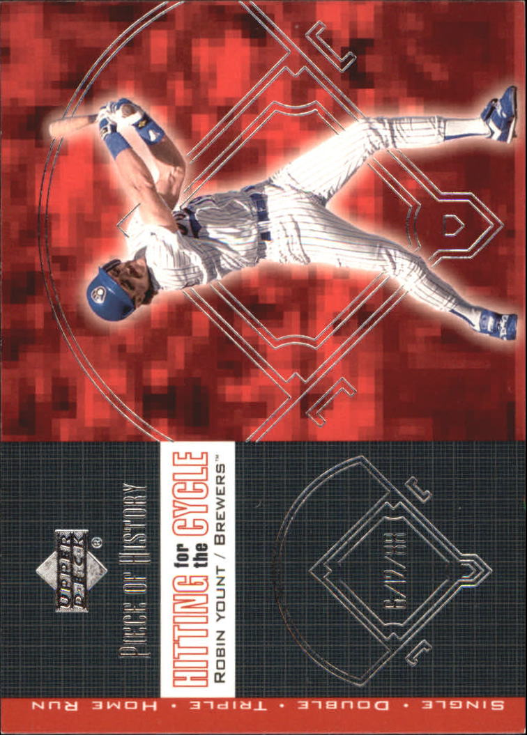 2002 UD Piece of History Hitting for the Cycle #H8 Robin Yount