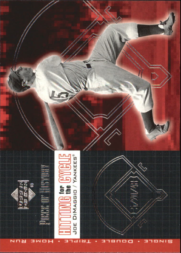 2002 UD Piece of History Hitting for the Cycle #H12 Joe DiMaggio