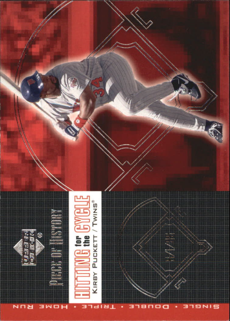 2002 UD Piece of History Hitting for the Cycle #H14 Kirby Puckett