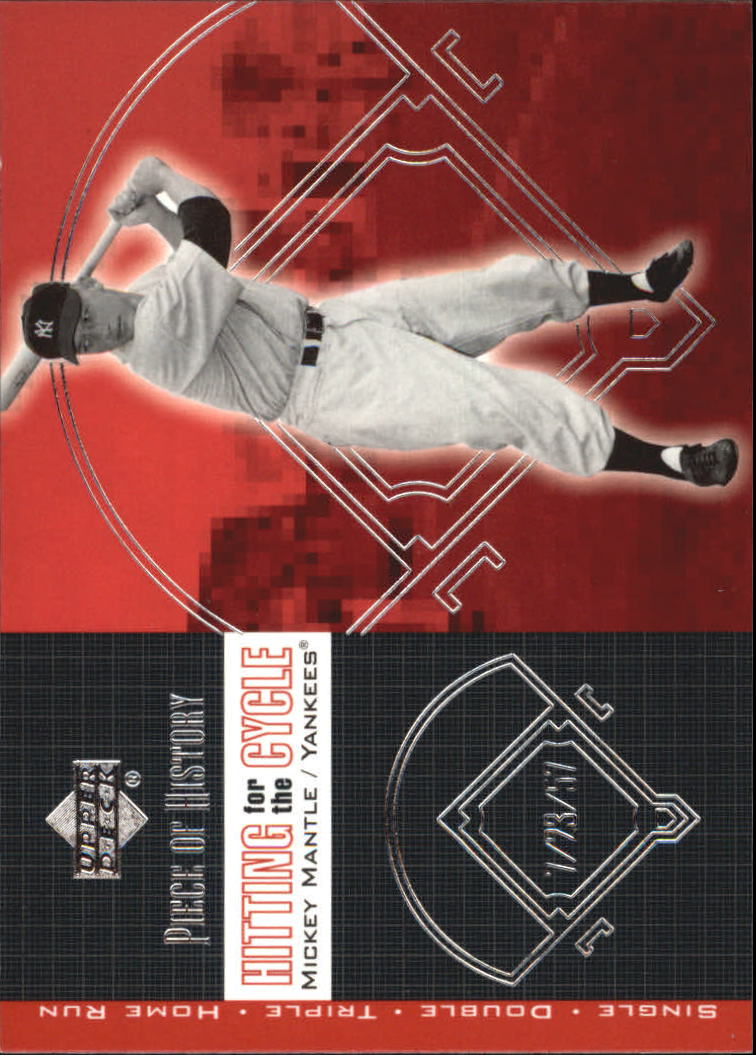 2002 UD Piece of History Hitting for the Cycle #H17 Mickey Mantle