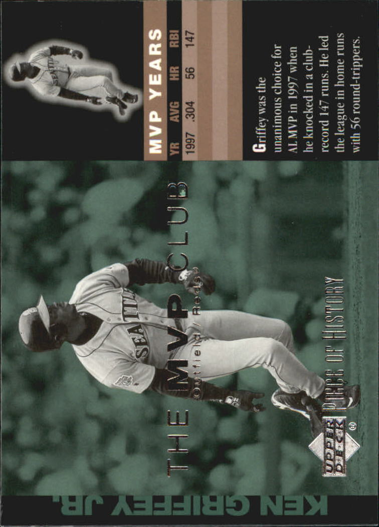 2002 UD Piece of History MVP Club #M5 Ken Griffey Jr.
