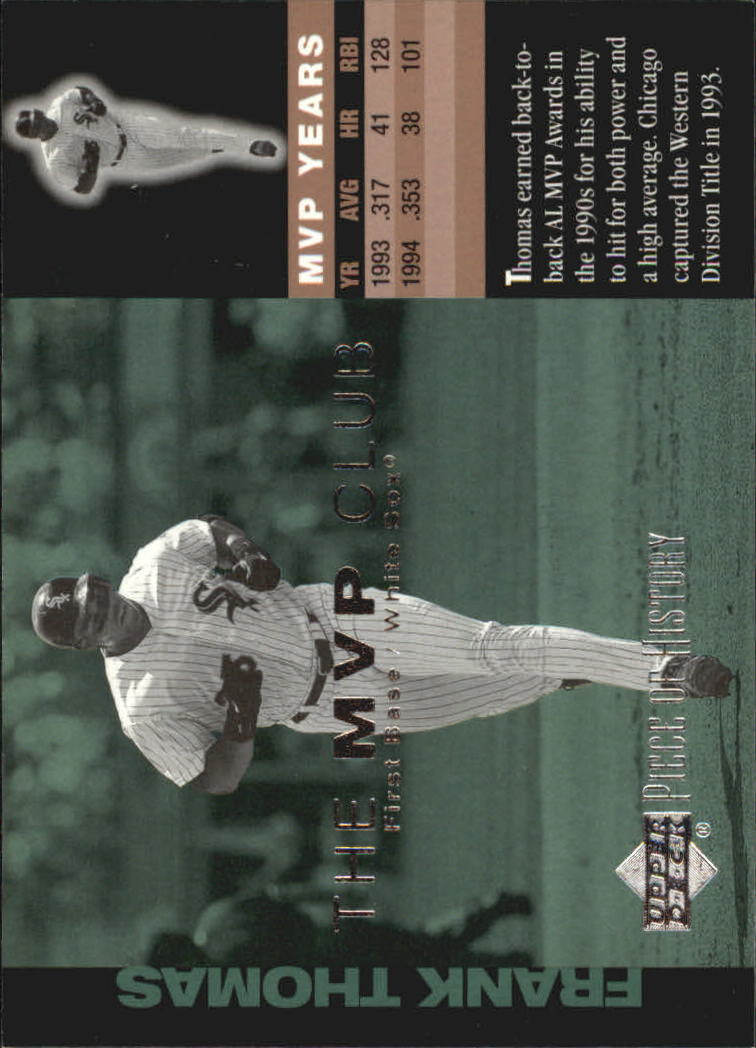 2002 UD Piece of History MVP Club #M9 Frank Thomas