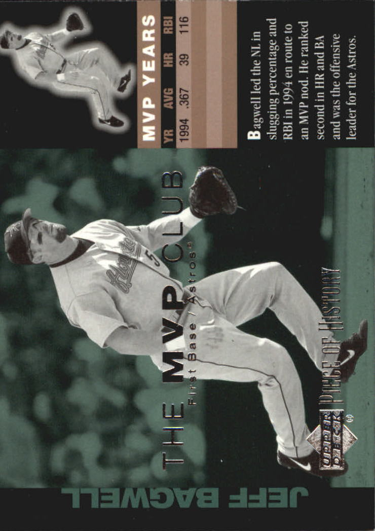 2002 UD Piece of History MVP Club #M11 Jeff Bagwell