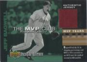2002 UD Piece of History MVP Club Jersey #MJB Jeff Bagwell
