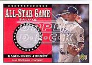 2002 Upper Deck All-Star Salute Game Jersey #SJAR2 Alex Rodriguez Rangers