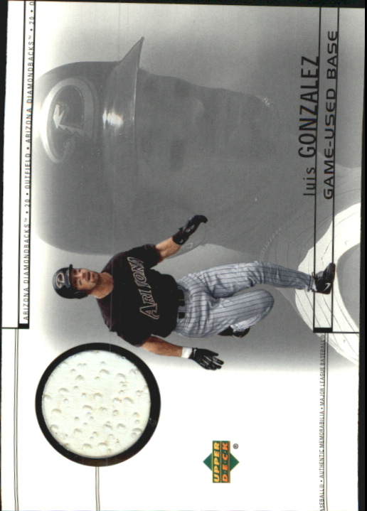 2002 Upper Deck Game Base #BLG Luis Gonzalez
