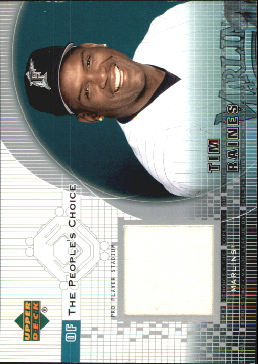 2002 Upper Deck Peoples Choice Game Jersey #PJTR Tim Raines Sr.