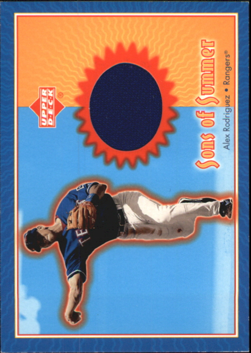 2002 Upper Deck Sons of Summer Game Jersey #SSAR Alex Rodriguez
