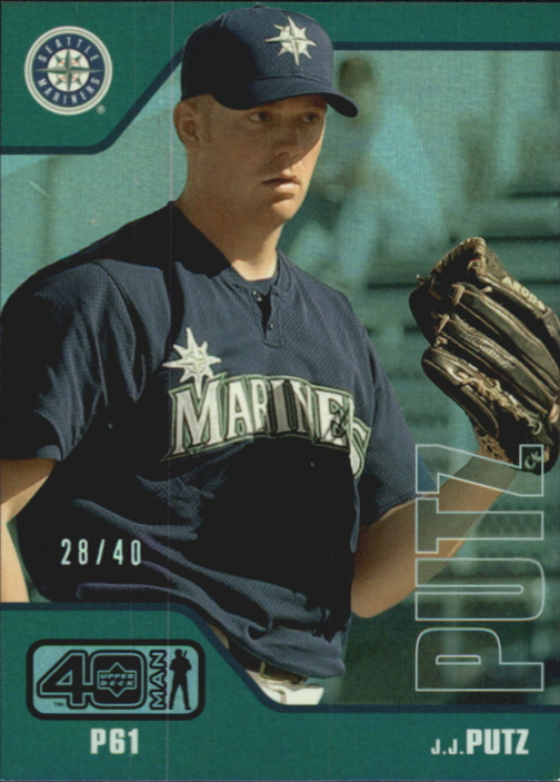 2002 Upper Deck 40-Man Electric Rainbow #190 J.J. Putz