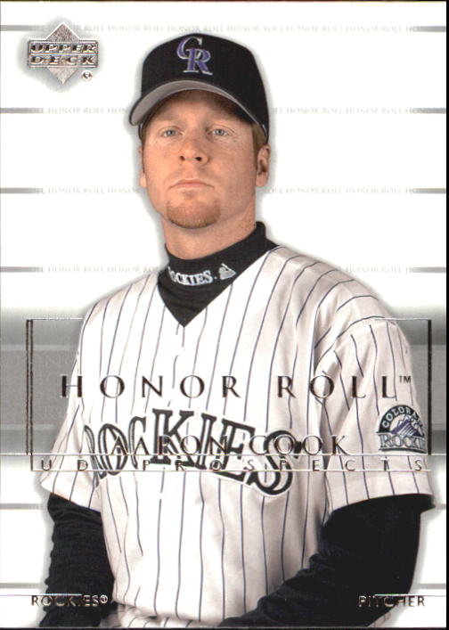 2002 Upper Deck Honor Roll #145 Aaron Cook UDP RC
