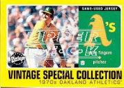 2002 Upper Deck Vintage Special Collection Game Jersey #SRF Rollie Fingers Jsy