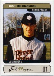 2002 Just the Franchise Prototypes #JTF1 Joe Mauer