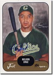 2002 Just Prospects Autographs #10 Nelson Cruz/200