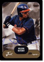 2002 Just Prospects Autographs Black #3 Wilson Betemit