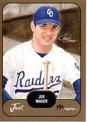 2002 Just Prospects Gold #21 Joe Mauer front image