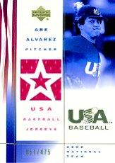 2002 USA Baseball National Team Jerseys #AA Abe Alvarez