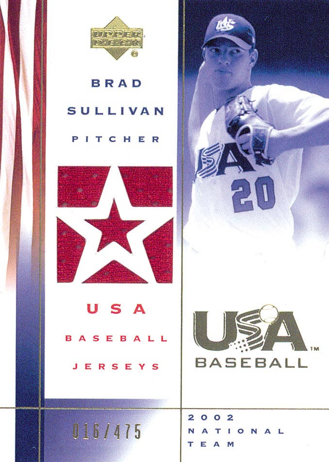 2002 USA Baseball National Team Jerseys #BS Brad Sullivan