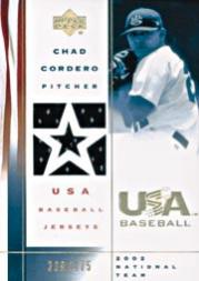 2002 USA Baseball National Team Jerseys #CC Chad Cordero