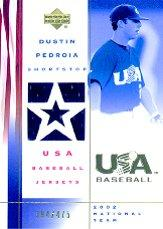 2002 USA Baseball National Team Jerseys #DP Dustin Pedroia