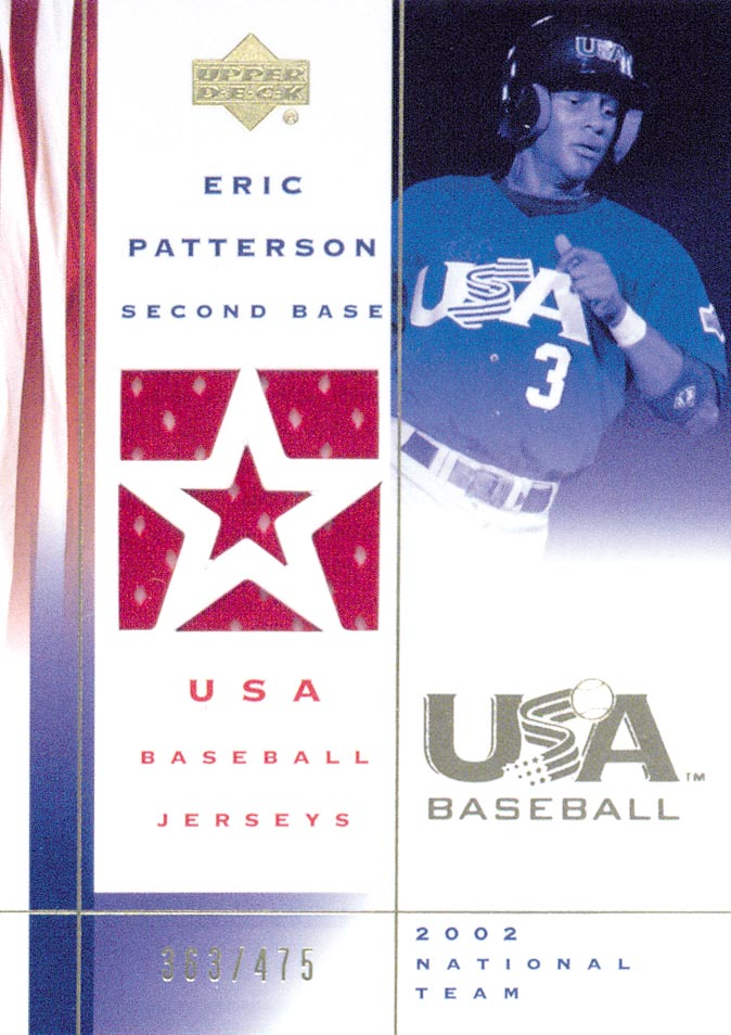 2002 USA Baseball National Team Jerseys #EP Eric Patterson