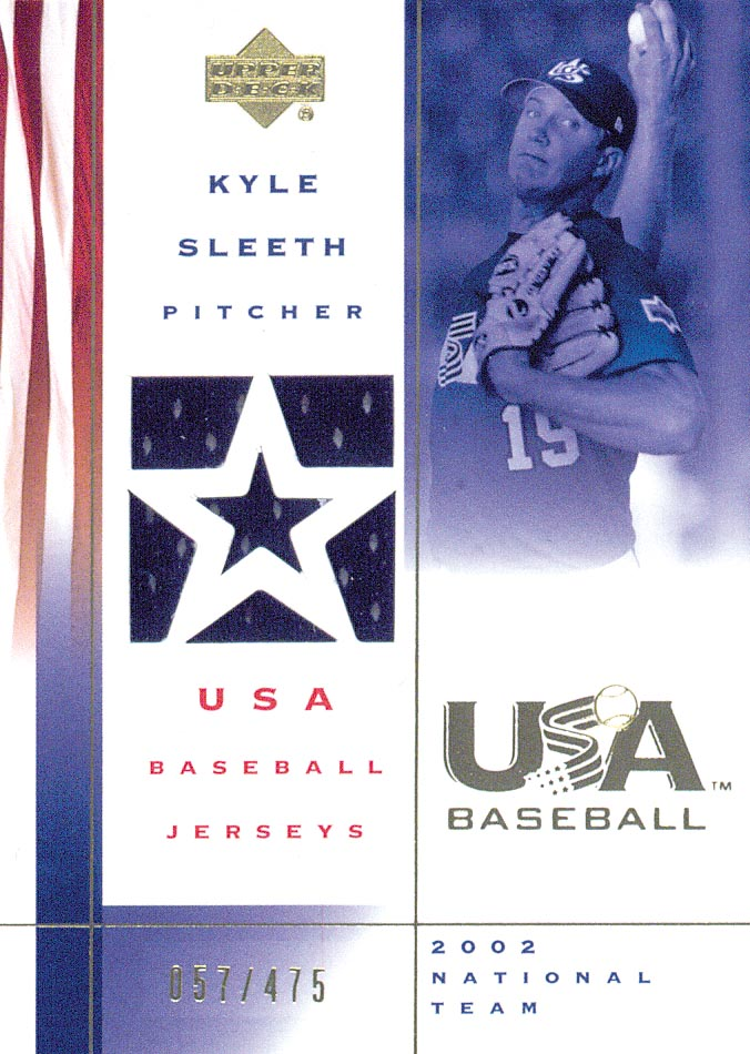 2002 USA Baseball National Team Jerseys #KS Kyle Sleeth