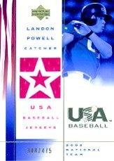 2002 USA Baseball National Team Jerseys #LP Landon Powell