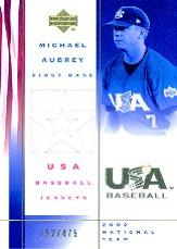 2002 USA Baseball National Team Jerseys #MA Michael Aubrey