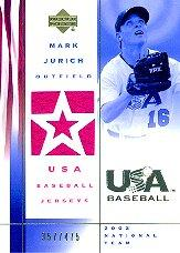 2002 USA Baseball National Team Jerseys #MJ Mark Jurich